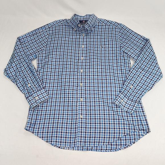 Vineyard Vines Men's Slim Fit Tucker Shirt EUC